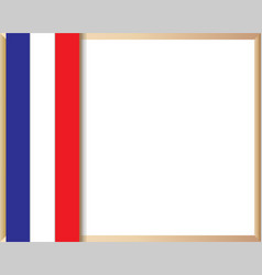 french flag symbolism frame vector image