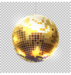 Golden party ball retro night club symbol vector