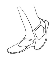 hand drawn women feet vector image