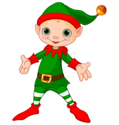 Happy Christmas Elf vector