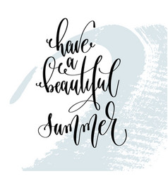 have a beautiful summer - hand lettering vector image