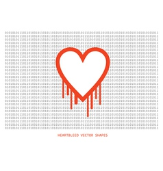 Heartbleed openssl bug shape bleeding heart vector image
