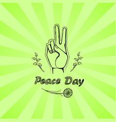 international peace day poster 21 september 2017 vector image