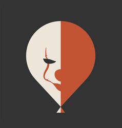 It movie icon clown face on the ballon vector