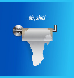 joke concept nearly empty torn toilet paper vector image