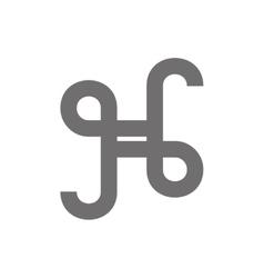 Letter h logo concept icon vector