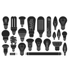 Light bulb black on white vector