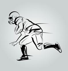 Line sketch player american football vector