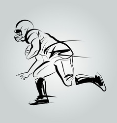 line sketch player of american football vector image