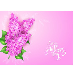 Mothers day greeting card with blooming vector