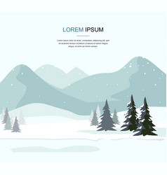 mountain winter landscape with fir forest vector image