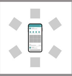New generation smartphone social media design vector