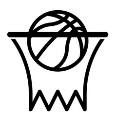 Outline beautiful basketball net icon vector