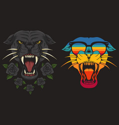 panther cool retro vector image