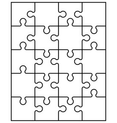 parts of white puzzle vector image