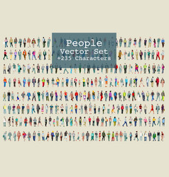 People 2d cool collection vector