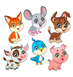 Pet faces3 vector image