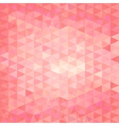 pink triangular background vector image