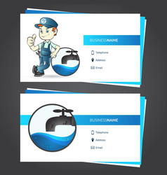 plumber business card vector image
