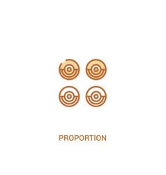 Proportion concept 2 colored icon simple line vector