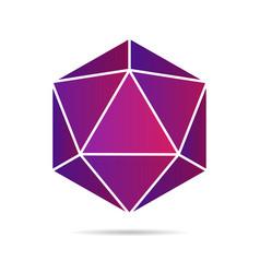 purple gradient diamond isolated on white vector image