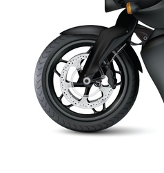 Realistic Motorbike wheel vector image vector image