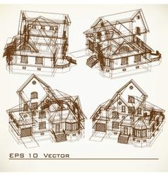 Set architectural elements vector
