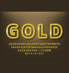 set beautiful premium gold outlines vector image