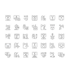 Set simple icons 3d printing vector