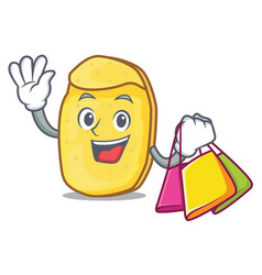 Shopping potato chips character cartoon vector