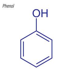 Skeletal formula phenol antimicrobial chemical vector