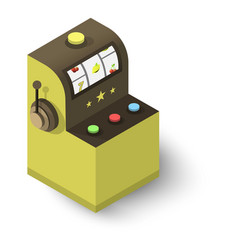 slot machine icon isometric 3d style vector image