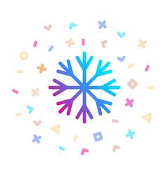 snowflake surrounded festive decor icon vector image