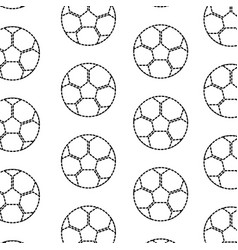 soccer ball equipment seamless pattern vector image
