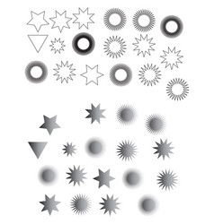 stars black star in flat style star icon vector image