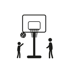 Summer sports icon - basketball vector