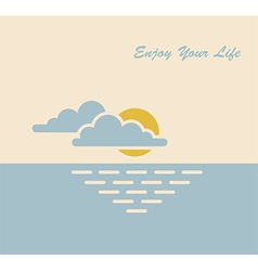 sun sea life vector image