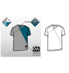 tech sketch of a t-shirt vector image