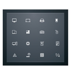 Technology related pictograms vector