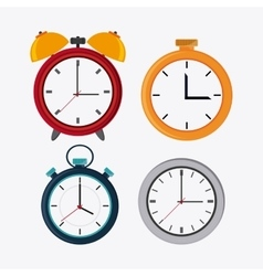 Traditional clock and chronometer design vector