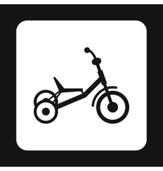 Tricycle icon simple style vector