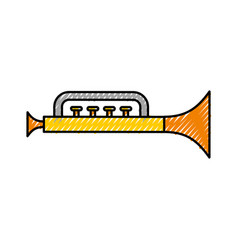Trumpet toy isolated icon vector
