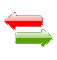 two simple arrows isolated on the white vector image