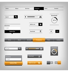 Two styles web elements vector
