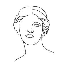 Venus de milo s head 3 vector