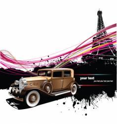 vintage car in Paris vector image