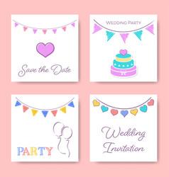Wedding invitation card templates vector