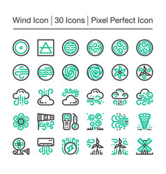 wind line icon vector image
