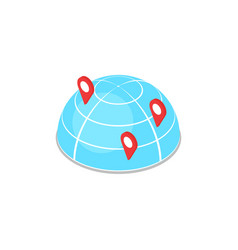 Worldwide delivery logistics isometric 3d icon vector