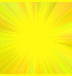 yellow abstract psychedelic star burst background vector image